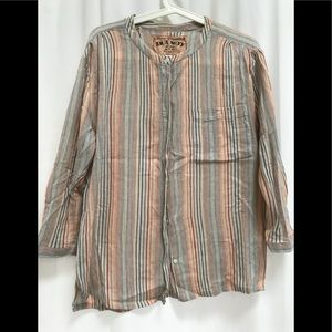 Ana Seff 70s inspired striped cotton shirt, M
